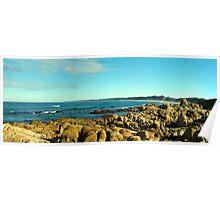 Salmon rocks, Marlo, Lakes entrance, panoramic Poster