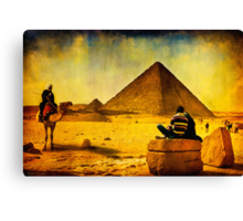 1001 Nights - Tales from Egypt - The Pyramids Canvas Print