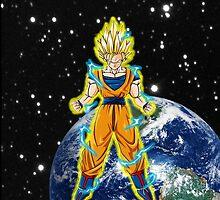dragaonball z Goku Charging by briannajade