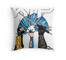 Kombat Tomb Podcast T-Shirt Logo Throw Pillow