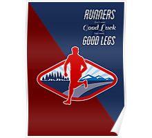Cross Country Runner Retro Poster Poster