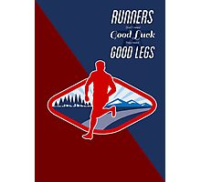 Cross Country Runner Retro Poster Photographic Print