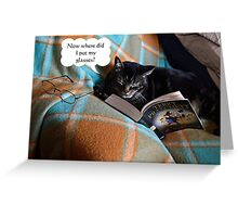 Curled up for a Good Read Greeting Card
