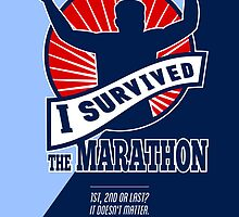 Marathon Runner Survived Poster Retro by patrimonio