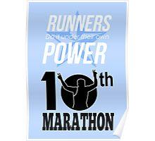 10th Marathon Race Poster Poster