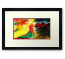 Light in the dark Framed Print