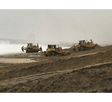 Bulldozers at the Beach Photographic Print