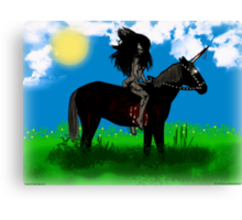 Lady Persiphone and the Unicorn  Canvas Print