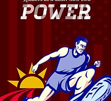 Runner Running Power Poster by patrimonio