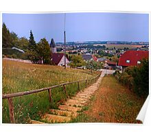 Stairway to the village center | landscape photography Poster
