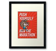 Turkey Run Marathon Runner Poster Framed Print