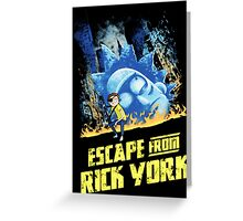 Rick and Morty Escape From Rick York Greeting Card