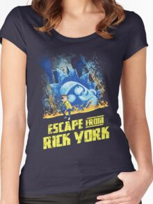Rick and Morty Escape From Rick York Women's Fitted Scoop T-Shirt