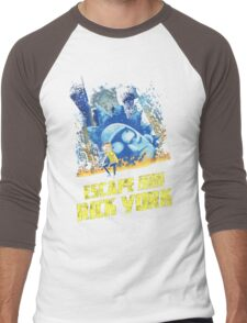 Rick and Morty Escape From Rick York Men's Baseball ¾ T-Shirt