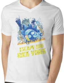 Rick and Morty Escape From Rick York Mens V-Neck T-Shirt