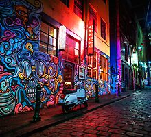 Evening in Hosier Lane by melbournedesign