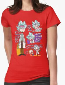 Doctor Rick Quote Collage Womens Fitted T-Shirt