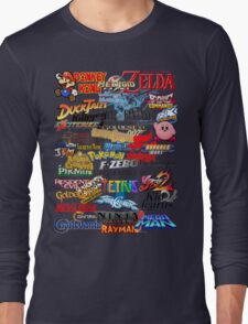 Retro Nintendo Titles  Long Sleeve T-Shirt