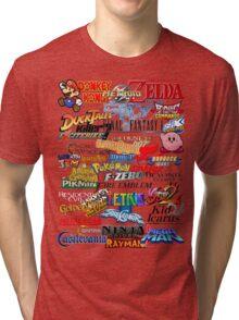 Retro Nintendo Titles  Tri-blend T-Shirt