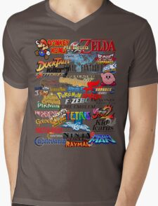 Retro Nintendo Titles  Mens V-Neck T-Shirt