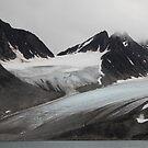 Magdalenefjord - Hanging Glacier by John Dalkin