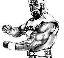 WWF Hulk Hogan Drawing Design by icwkev