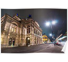 Vienna Opera by Night Poster