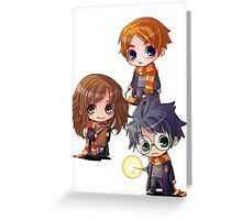 Harry, Hermione, Ron Greeting Card