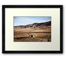 rural armenia Framed Print