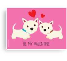 Be My Valentine – Westies Canvas Print