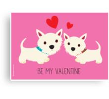 Be My Valentine – Westies Canvas Print