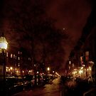 Marlborough Street lit by Gaslight and planets by Owed To Nature