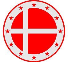 Denmark Circle Flag by Style-O-Mat