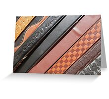 Decorated Belts Greeting Card
