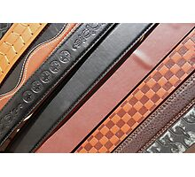 Decorated Belts Photographic Print