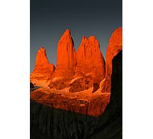 Three Torres, Torres del Paine Photographic Print