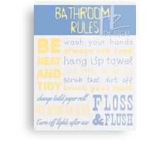 Bathroom Rules Metal Print