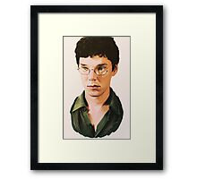 Benedict Cumberbatch digital portait Framed Print