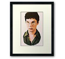 Benedict Cumberbatch digital portait Framed Print