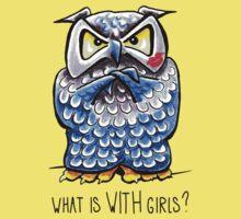 Grumpy Owl Kissed Baby Tee