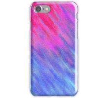 Glittery Sunburst - Pink and Blue iPhone Case/Skin