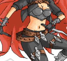 Chibi Pixel Katarina (League of Legends Fan Art) Sticker