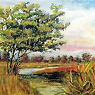 Crepe Myrtle in the Wetlands by Jim Phillips