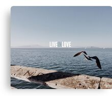 LIVE IN LOVE Canvas Print
