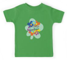 VW Beetle Flower Bug Kids Tee