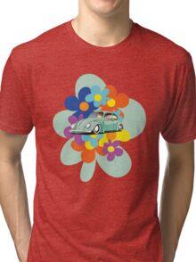 VW Beetle Flower Bug Tri-blend T-Shirt