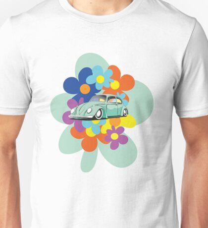 VW Beetle Flower Bug Unisex T-Shirt