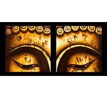 Buddha Eyes Diptych  Photographic Print