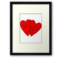 I Love You Sort Of Framed Print