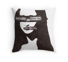 GOD_SAVE_THE_MONA_LISA Throw Pillow